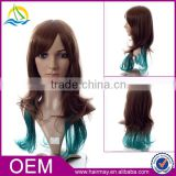 Factory price cheap full lace wig synthetic long wig display mannequin head wig