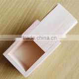 classical slide top wooden boxes unfinished empty 5x7 gift box