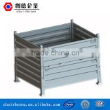 Widely used in the car fields steel wire mesh pallet box collapsible rigid wire bulk container