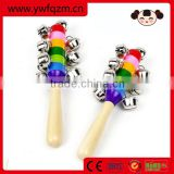 wooden rattle music instrument baby toys
