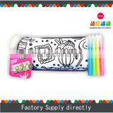 Cool & Cheap Pencil Case for Kids, Hand Painted Rolling Pencil Case with 4pcs of Marker
