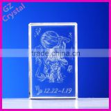 Wholesale wedding favors 3D laser crystal wedding gifts