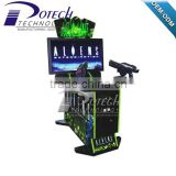 Cheap shooting arcade game machine with guns for sale