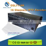 16 channels iptv streaming encoder, http,udp,rtmp,rtsp encoder,hd mi encoder h.264 COL7116H