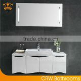 CRW luxury bathroom vanities with sink wall cabinets white color designer for contemporary home wooden bathroom furniture