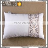 China manufacture embroidered new design soft pillow for hotel
