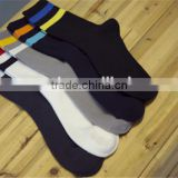 100% cotton hot sale tube middle lenght high socks men sport black colorful socks supplier