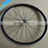 700C chinese high profile carbon wheels,super light bike carbon wheels Novatec hub 20H/24H UD glossy.