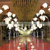 2017 Wholesale Hotel Crystal Floor Lamp Indian Wedding Stage Mandap Lighting Design