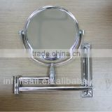 Movable Mirror,Chrome Framed Silver Bath Mirror,Bath Mirror With Shelves
