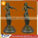 Antique bronze beautiful lady playing violin statue for sale NTBH-052LI