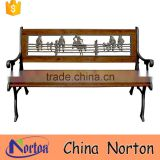 Garden furniture long metal wood cowboy bench sale NTIRH-017Y