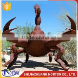 Large stainless steel crab sculpture for square decor NTS-023LI