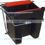 Marine Wholesale Industrial Heavy Duty Black Mop Wringer Bucket