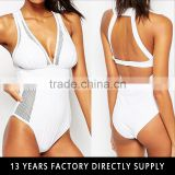 Fast delivery xxx white triangle bikini girls swimwear photos hot sexy bathing wear 2016