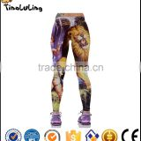 Women The African Lion Print Fitness Quick Dry Exercise Leggings High Waist Mid Calf Energy Pants Trousers