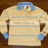 long sleeve polo shirts for children ,cheap wholesale boys cotton striped polo shirts