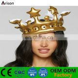 PVC inflatable crown foldable hat inflatable birthday party crown