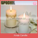 Candle light dinner candles plus Gold silver carved Iron candle Christmas gift