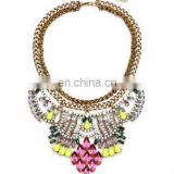 Women Party Exaggerate Accessories Luxury Choker Multicolor Crystal Bead Collar Statement Necklaces Maxi Jewelry