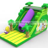 Commercial Grade palm inflatable dry / wet slide for summer event / Jungle inflatable slide