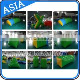 Factory Sale PVC Inflatable Snow Bunker / Inflatable Military Bunkers For Crazy Archery Games