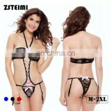 Zsteimi Customized Sizes See Through Teddy Temptation Hot Nightwear