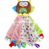Owl Animals Plush Toys Baby Cradle Hand Towel