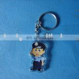 promotional clear custom blank souvenir plastic photo frame key ring, acrylic police keychain