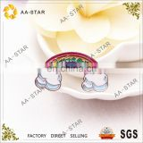 Wonderful rainbow design collar pin for clothing decoration