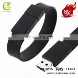 Colorful Custom Great Quality Wristband Ruber Pen Drive Foldable Soft Silicone Bracelet Usb Flash Drive