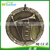 Winho antique bronze music medal