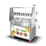 Most popular !!! Commercial make ice cream instantly machine |Flat Pan Fried Ice Cream Machine|Fried Ice Cream Roll Machine