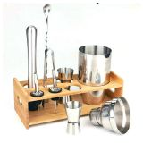 Low Price Bartender Stainless Steel Cocktail Shaker Set Kit
