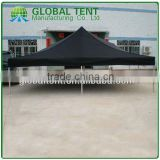 Aluminum Pop Up Trade Show Tent 6x6m ( 20ft X 20ft) with Black Canopy & Valance(Unprinted)
