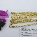 High quanlity Decorative iron light gold handbag chain