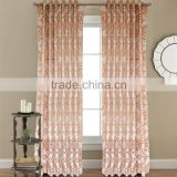 classic design american style leaf pattern curtain