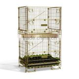 Foldable and stackable metal steel wire frame storage box