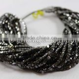Top Quality Black Diamond Faceted Cube Beads