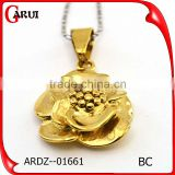 316l stainless steel jewelry casting stainless steel flower pendant
