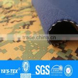 Waterproof Windproof Breathable Softshell Fabric/ Camouflage Printed 3 Layer Laminated Fleece Softshell Fabric