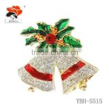 Beautiful Elegant fashion brooch,rhinestone christmas brooch for wedding or other party wholesale China