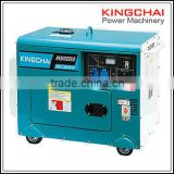 KINGCHAI Power Factory 186FA silent diesel generator set, 5kw/5kva camping genset good price for sales