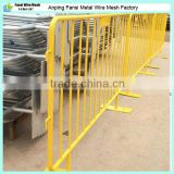 2.25m Long x 1.10m High Galvanized steel finish removable barriers/barricades/pool fence made in china