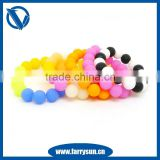 FDA Approved Silicone bead bracelet/cheapest silicone bracelets