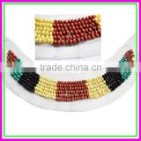 Guangzhou garment accessories,Fashion Cheap OEM/ODM America Handmade Wood Beads Shirt Net Cloth False Collar