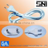 SNI Power Cord Approval 2 Pin Plug with VDE standard plug