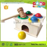 Baby Hand Exercise Wooden Hammering Balls Toys w/ balls, hammer, box