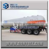 three axles 57000LT 57KL 57M3 propylene lpg road tanker