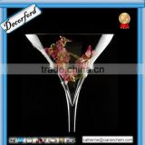 Hot wholesale tall clear martini glass vases centerpieces                                                                         Quality Choice